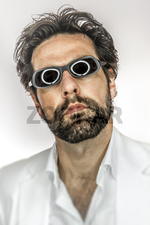 man with cool sun glasses