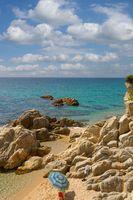 Strand an der Costa Brava,Katalonien,Mittelmeer,Spanien