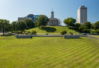 Aerial view of the State Capitol building in Nashville, Tennessee