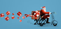 Santa Claus 2022 on scooter