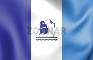 3D Flag of Rio Gallegos (Santa Cruz)