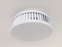 smoke detector on ceiling, fire alarm device