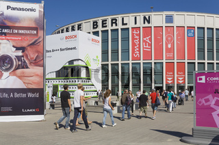 Messeeingang Sued zur Messe IFA, Berlin