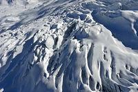 Gletschderspaltgen auf dem Feegletscher, Saas-Fee, Wallis, Schweiz