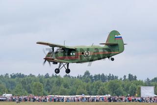 An-2 plane lands