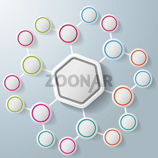 Infographic Hexagon Colorful Rings Benzene