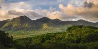 Beautiful sunrise at MacGillycuddys Reeks mountains, Ireland