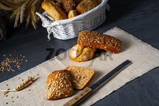 Delicious and crispy breakfast rolls