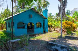 Costa Rica, small church in the fields