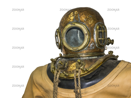 old diving suit
