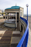 EASTBOURNE, EAST SUSSEX, UK - MAY 3 : View of the Bandstand in Eastbourne on May 3, 2021. One unidentified person