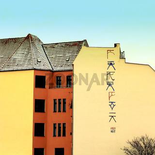 Hausfassaden in Berlin. Deutschland