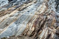 Vom ehemaligen Gletscher abgeschliffene Felswand, Hohe Mut, Ötztal, Österreich