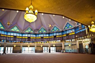 interior of malaysian mosque