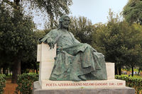 Rome, monument to Nizami Ganjavi