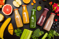 The wonderful natural smoothies in glasses for every taste