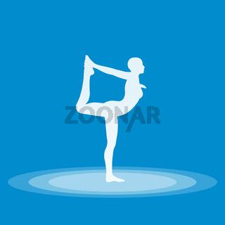 Yoga Pose Symbol - Blau 04