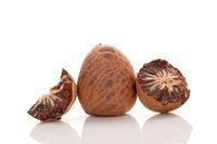 Betel nut isolated on white background.