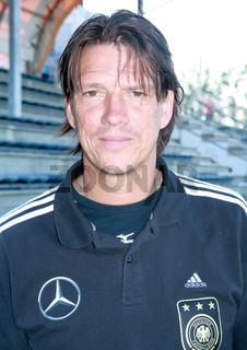 Cheftrainer Christian Ziege(U18-DFB)U18-Fußballländerspiel Deutschland-Russland,24.5.12 in Eilenburg