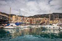 Monaco Skyline From Port Hercule
