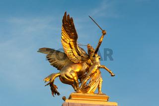 Figure in the Pont of Alexander III, Paris, France