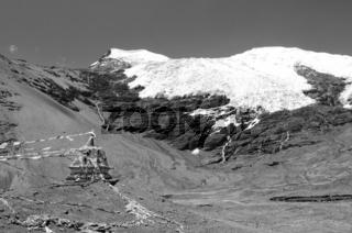 Stupa am Karola Gletscher Tibet China