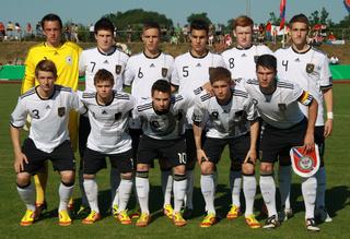 U 18 - DFB Nationalmannschaft beim Fußballländerspiel Deutschland-Russland, 24.5.2012 in Eilenburg