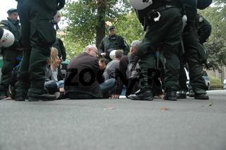 Dortmund,Protest gegen 'Die Rechte'. 31.08.2013