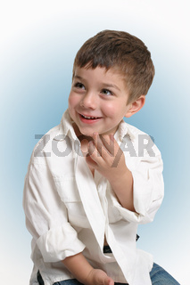 Toddler boy child with happy smile