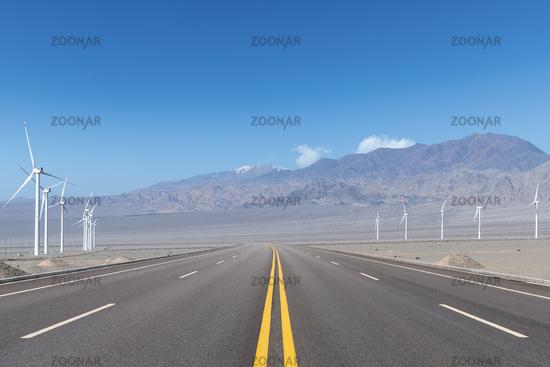 beautiful new energy road