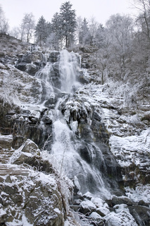 Todtnau Waterfall at winter time