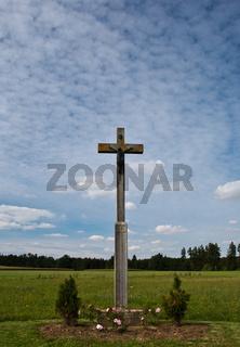 Kruzifix, Feldkreuz mit Christusfigur, Schwäbische Alb, Baden-Württemberg, Deutschland, Europa
