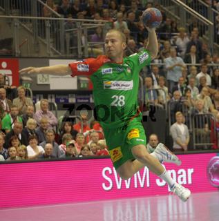 österreichischer Handballer Robert Weber vom SC Magdeburg DHB DKB Handball Bundesliga Saison 2013/14