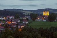 die Klosterkirche von St. Märgen im Schwarzwald