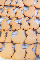 Traditional ginger cookies for Easter.