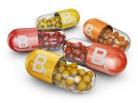 capsules with B vitamins
