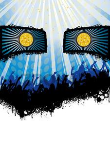 Face Disco Party Flyer Blue