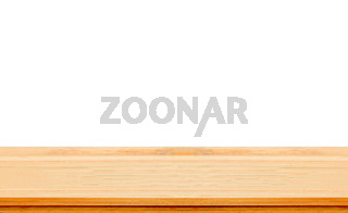 Closeup Clear wooden studio background on white background - wel