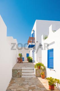 Colorful alleyway in Sifnos, Greece