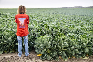 Woman with Brussels Sprouts