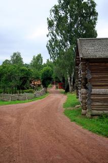 Verlassenes Dorf. Schweden