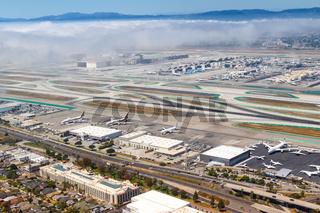 Flughafen Los Angeles International Airport LAX Übersicht Luftaufnahme