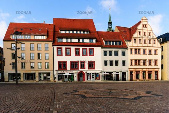 freiberg Marktplatz Häuser Obermarkt