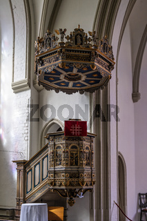 The interior of the St Jurgen church at Juergensby in Flensburg, Germany