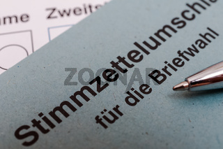 Bundestagswahl 2021 - Wahlschein ankreuzen