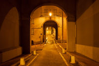 Street in Nice City at Night