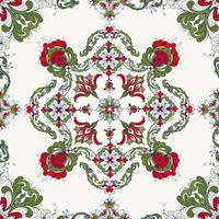 Rosemaling vector pattern 47