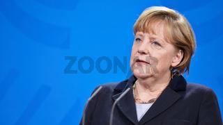 Press conference with German Chancellor Merkel and President of Benin Boni Yayi.