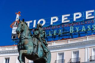 Puerta del Sol in central Madrid, Spain.