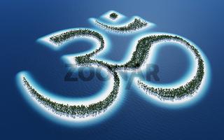Aum Om Zeichen - Insel Konzept 2